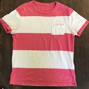 2/$25 J Crew Jersey Knit Striped Pocket T-Shirt SM